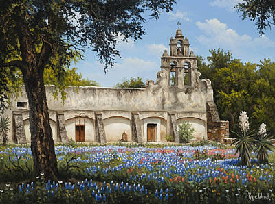 San Juan Painting - Mission San Juan by Kyle Wood