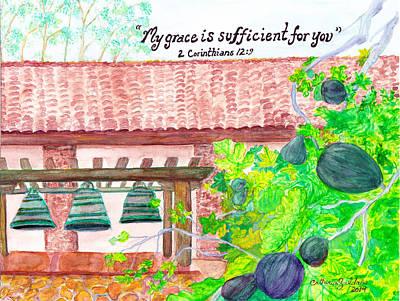 Bible Painting - Mission San Luis Obispo by Catherine Saldana