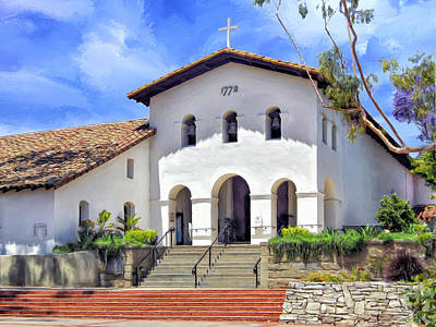 Mission San Luis Obispo De Tolosa Art Print by Dominic Piperata