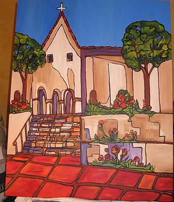 Mission San Luis Opispo Art Print by Michelle Gonzalez