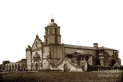Photograph - Mission San Luis Rey De Francia  California Circa 1890 by California Views Mr Pat Hathaway Archives