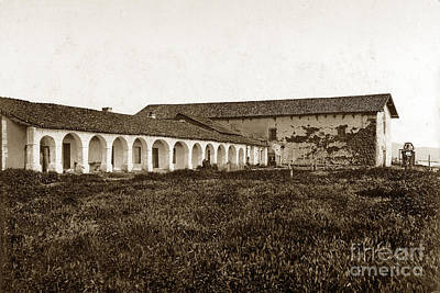 Photograph - Mission San Miguel Arcangel California  Circa 1900 by California Views Mr Pat Hathaway Archives