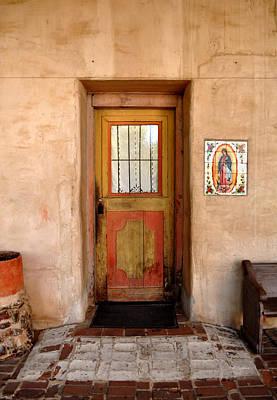 Painted Door Photograph - Mission San Miguel Doorway by Tony Ramos