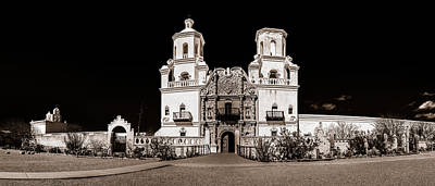 Photograph - Mission San Xavier Del Bac Bw by Chris Bordeleau