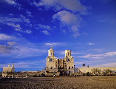 Mission San Xavier Del Bac Photograph - Mission San Xavier Del Bac, Tucson by Howie Garber