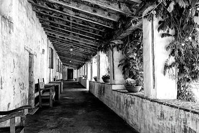 Photograph - Mission Santa Barbara B/w by Vinnie Oakes