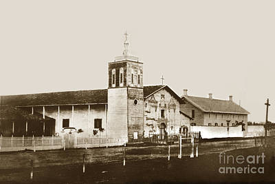 Photograph - Mission Santa Clara De Asis California Circa 1870 by California Views Mr Pat Hathaway Archives