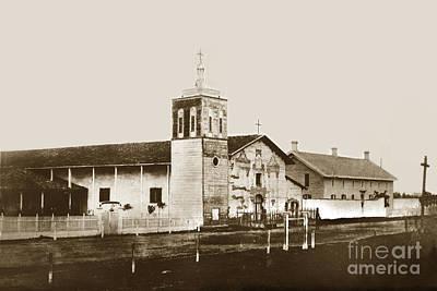 Photograph - Mission Santa Clara De Asis California Circa 1870 by California Views Archives Mr Pat Hathaway Archives