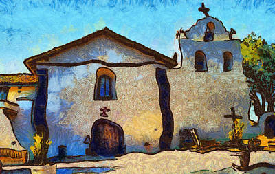 Mission Santa Ines Print by Barbara Snyder