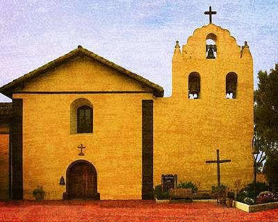 Photograph - Mission Santa Inez by Timothy Bulone