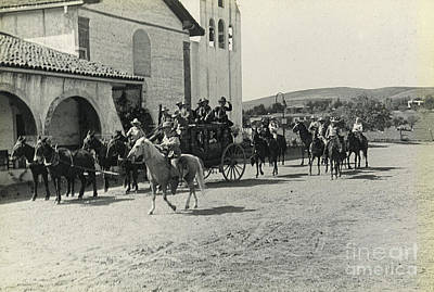 Photograph - Mission Stagecoach 1935 by Patricia  Tierney