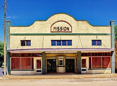 Mission Theater Art Print by Gary Richards