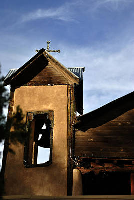 Chimayo Nm Photograph - Mission Tower by Pam Romjue