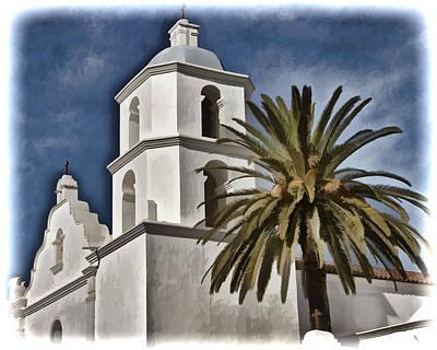 San Luis Rey Photograph - Mission Tower - San Luis Rey by Jon Berghoff