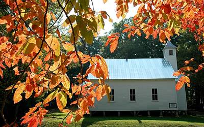 Missionary Baptist Church Autumn Afternoon Art Print by John Saunders