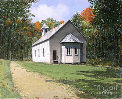 Painting - Missionary Baptist Church by Bob  George