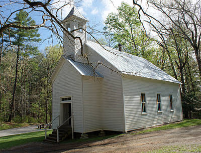 Missionary Baptist Church In Cades Cove Art Print by Roger Potts