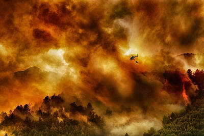 Helicopter Photograph - Missione Impossibile... by Antonio Grambone