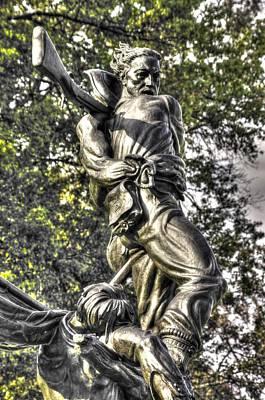 Mississippi At Gettysburg - Defending A Fallen Comrade Art Print