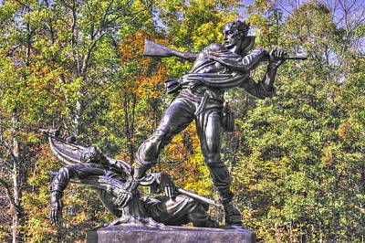 Mississippi At Gettysburg - Defending The Fallen Colors No. 1 Art Print