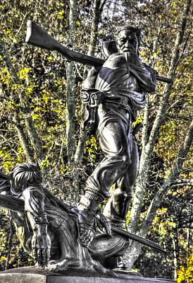 Mississippi At Gettysburg - Defending The Fallen Colors No. 2 Art Print by Michael Mazaika