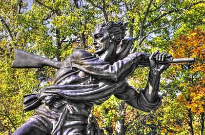 Mississippi At Gettysburg - Desperate Hand-to-hand Fighting No. 1 Art Print by Michael Mazaika