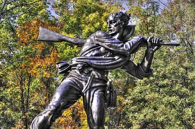Mississippi At Gettysburg - Desperate Hand-to-hand Fighting No. 3 Art Print by Michael Mazaika