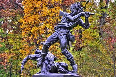 Mississippi At Gettysburg - Desperate Hand-to-hand Fighting No. 5 Art Print by Michael Mazaika