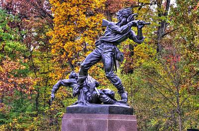 Mississippi At Gettysburg - On This Ground Our Brave Sires Fought.... Art Print by Michael Mazaika
