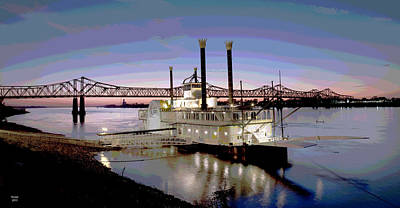 Mississippi Casino Boat Art Print by Charles Shoup