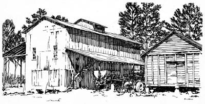 Mississippi Cotton Gin Circa 1971 Original by Jim Harris