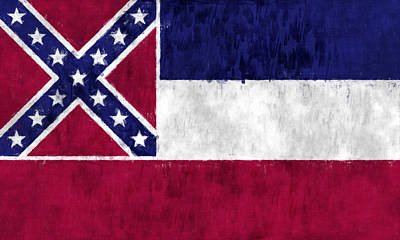 Mississippi Flag Art Print by World Art Prints And Designs