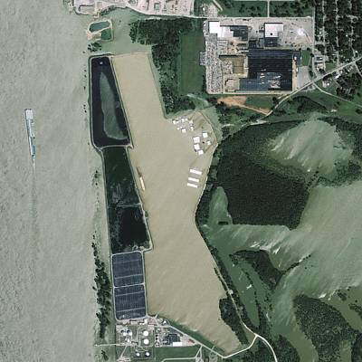 Ikonos Satellite Photograph - Mississippi Flooding, Usa by Science Photo Library
