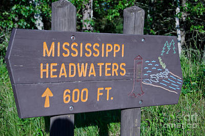 Photograph - Mississippi Headwaters Sign by Cassie Marie Photography