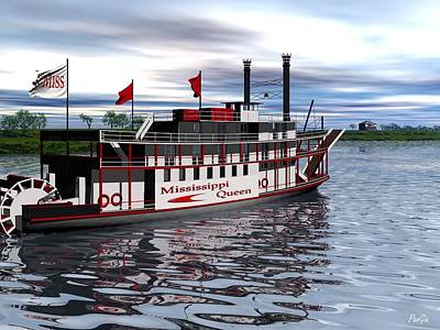 Mississippi Queen Art Print by John Pangia