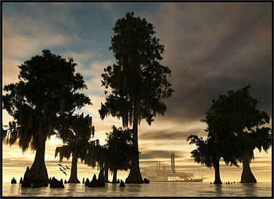 Digital Art - Mississippi Queen... by Tim Fillingim
