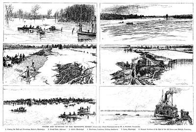 Mississippi River, 1890 Art Print