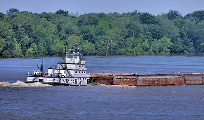 Mississippi River Barge Art Print by Dan Sproul