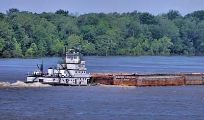 Mississippi River Barge Art Print