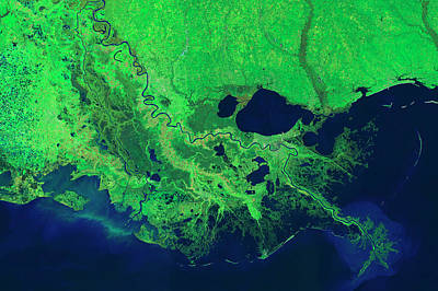 Morganza Photograph - Mississippi River Control Systems by Nasa
