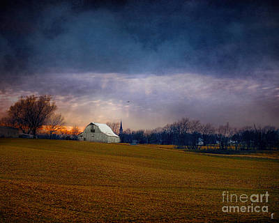 Country Scene Photograph - Missouri Barn At Sunset by Jai Johnson