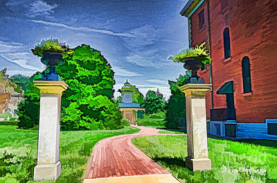 Photograph - Missouri Botanical Garden Pathway by Luther Fine Art