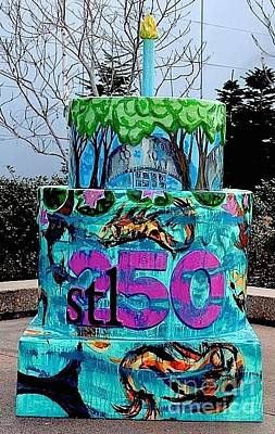 Painting - Missouri Botanical Garden Stl250 Birthday Cake by Genevieve Esson