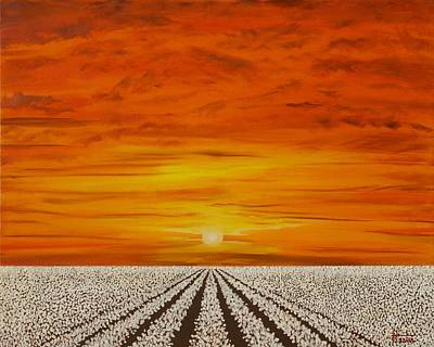 Painting - Missouri Cotton Field by Terry  Hester