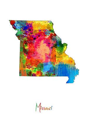Missouri Map Art Print