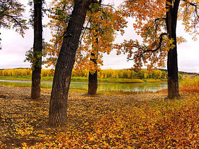 Photograph - Missouri River Autumn by Leland D Howard