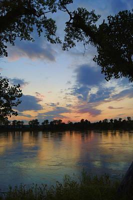 Missouri River Glow Art Print