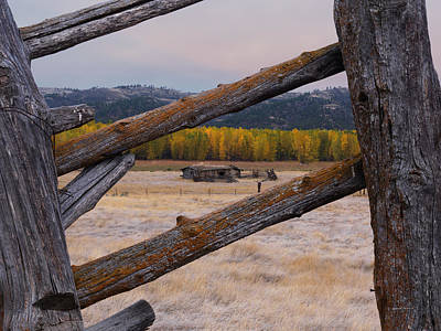 Old Cabins Photograph - Missouri River History by Leland D Howard