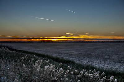 Photograph - Missouri River Sunset by Edward Peterson