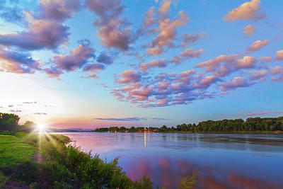 Charles Digital Art - Missouri River Sunset From Saint Charles by Bill Tiepelman